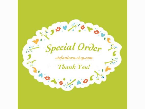Special Order for  onecraba****
