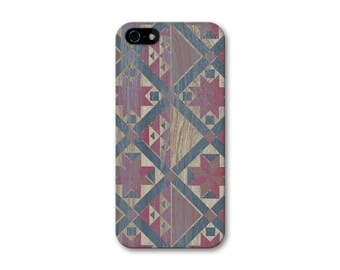 iPhone 6 Case Wood Print Geometric iPhone 5S Case, Aztec iPhone 5C Case, Tribal iPhone 6 Plus