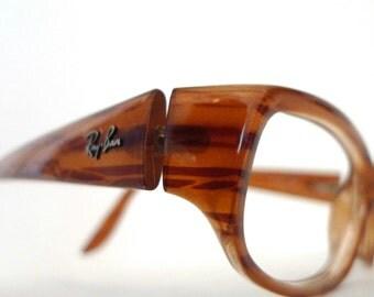Ray-Bans Designer Frame Italy RX Faux Tortoise Eyeglasses. Horn Rimmed Prescription Quality Sunglasses Glasses Frame sale