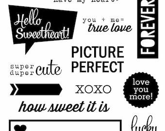 Valentine Clear Stamp Set Love