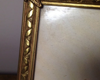 Vintage Gold Metal Picture Frame Mid Century 50s 8x10 A Beauty