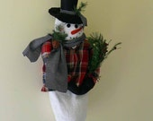 Prim Snowman Bag Holder