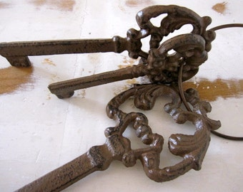 Cast Iron Keys, Jailers Keys, Ornate Keys, Skeleton Keys, Extra Large Decorative Keys