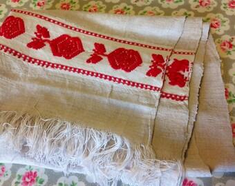Vintage Hungarian Linen Towel