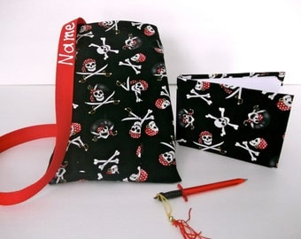 Disney Pirate autograph book bag with book bag and pen personalized for FREE adjustable strap