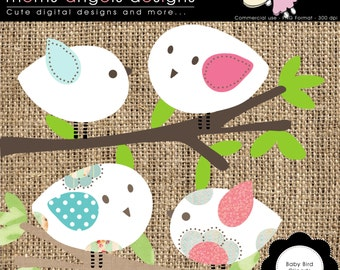 Baby Bird cliparts - COMMERCIAL USE OK