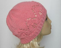 """Instant Download Knitting Pattern #175 Hat """"Claudia"""" for a Lady"""