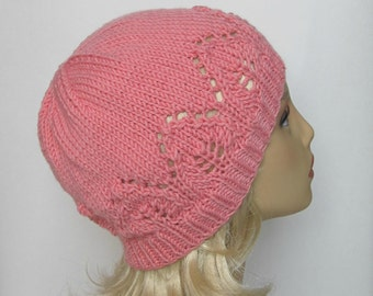 "Instant Download Knitting Pattern #175 Hat ""Claudia"" for a Lady"