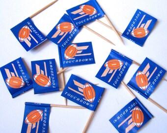 24 Football Flag Cupcake Picks