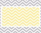 Custom Plush Fuzzy Chevron Area Rug -Nursery Rug shown Yellow and grey-Size 48x30, 60x48, 96x48-Other Colors available