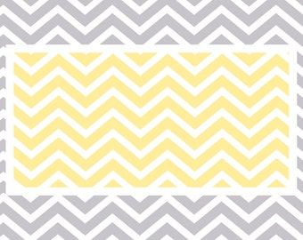 Custom Plush Fuzzy Chevron Area Rug -Nursery Rug shown Yellow and grey-Size  96x44, 96x60-Other Colors available