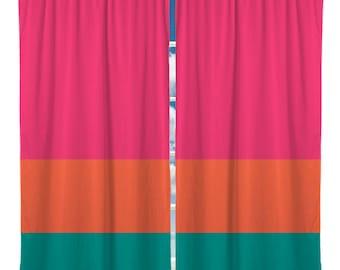 Color block curtain | Etsy
