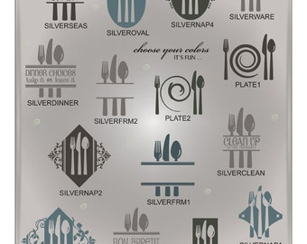 Silverware SVG Files - Kitchen SVG Files - Ai Eps Gsd Svg - Cuttable Svg Kitchen Designs - Silverware Designs for Cricut and Silhouette