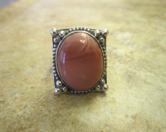 Sterling Silver Imperial Jasper Ring - Size 8 1/2 - FREE RESIZING