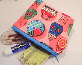 SPECIAL of the DAY - Small Flat Bottom--Padded Zipper Pouch