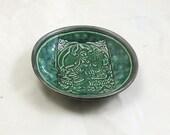 Green Tara Offering  Bowl Handmade  Ceramic Pottery