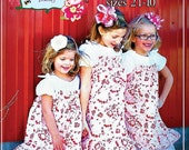Lilac Lane Fancy Sundress and Button Dress Pattern for Girls sizes 2T 3T 4 5 6 7 8 10 paper pattern