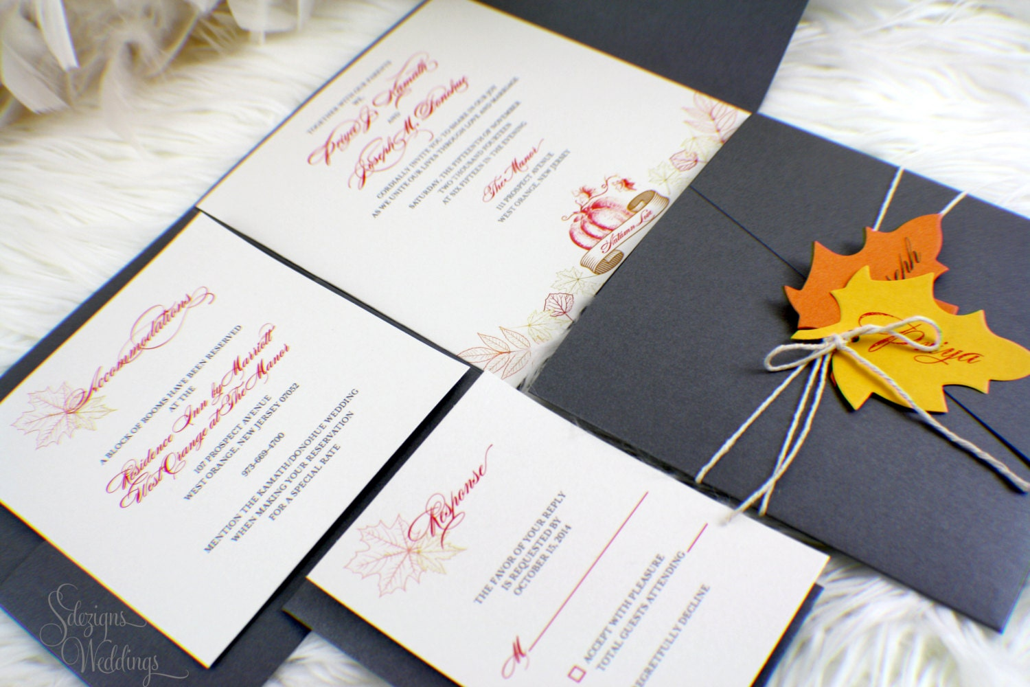 Fall Wedding Invitation | Autumn Wedding Invitation | Harvest ...
