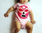 Luchador Rosa - Pink Mexican Wrestler Infant Bodysuit