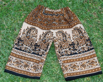 Hippie Kids pants -Brown Black - size 2 -Boys or Girls- Read measurements
