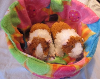 Large Cuddle Cup Bed Fleece for Guinea Pig, Hedgehog, Ferret, Tea Cup Dog, Cat or Small Animal