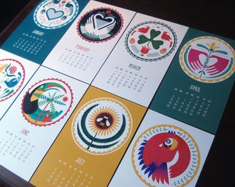 2016 Modern Hex Signs wall calendar