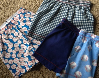 Custom Boys Boxers Size 5/6 faux fly (3 pack) - Ready to Ship