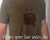 Beer Lover, Beard Wearing t-shirt - Beerdo 100% cotton pre-shrunk