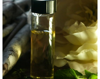 dandelo - a natural perfume spell woven of dandelion blossom, pomegranate & geranium- 1/2 oz of strange floral seduction