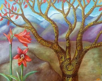 Mountain Lilies.  Original Painting.