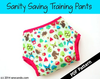 Sanity Saving Training Pants PDF Pattern
