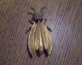 Vintage Insect broach marked Hattie Cornigie 1950s,