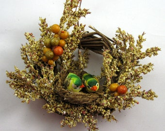 Birds in a Nest Christmas Ornament 301