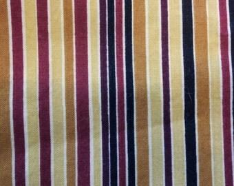 Gold Stripe Fabric  cotton fabric, stripes fabric, 38X35 inch cut, quilt fabric, 100% cotton fabric, Striped fabric, stripes fabric