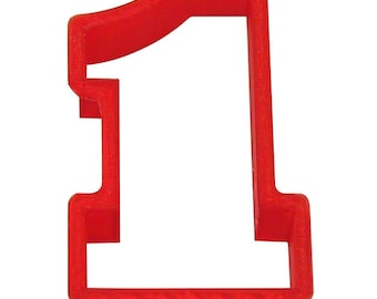 """Chunky Number one 4"""" Cookie Cutter  first birthday sports"""