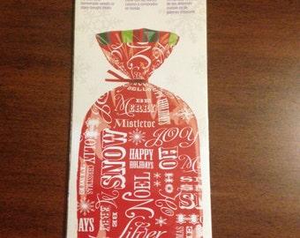 Wilton Chrismas Holiday Xmas Treat Goodie Bags Red