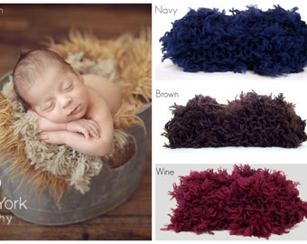 Basket Filler Blanket Newborn Baby Ready To Ship Photo Prop Boy Mat Infant Girl FLUFF Navy Photography Stuffer Layer Organic Neutral Brown