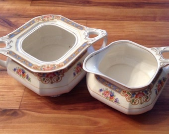 W.H Grindley Cream And Sugar Set