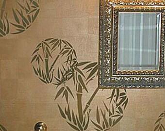 Bamboo Grove  Wall Art Stencil - LARGE Size - Easy DIY Wall Décor - DIY Wall Design - Reusable Stencils for Walls