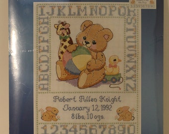 Bear Birth Sampler Cross Stitch Kit