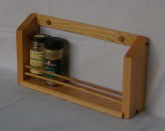 Oak Single Shelf Classic Spice Rack