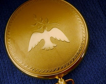 Vintage Compact Alexandra de Markoff Watch case with dove