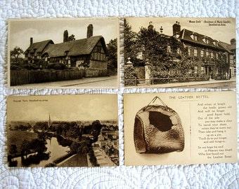Vintage English Postcard Lot EARLY CENTURY Souvenir Nostalgic Nostalgic Post Card Print England Great Britain