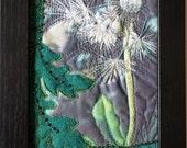 Art Quilt, Mini Fiber Art,Framed art, mixed media, collage art, fiber collage, Textile art, photography