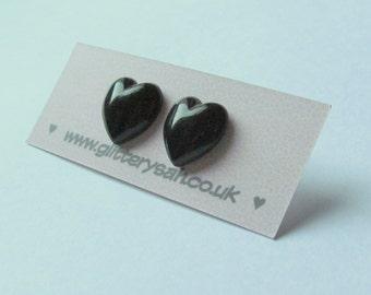 Black Heart Studs