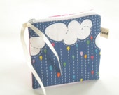 Rainy Day Change Purse, Coin Purse, Small Zipper Pouch