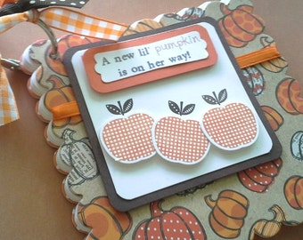 Fall Pumpkins Journal, Fall Baby Advice Book, Fall Bridal Shower Advice Book, Fall Party, Autumn Party