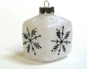 Christmas Ornament, Snowflake Christmas Ornament, Altered Glass Ornament, Snowflake, Christmas, Ornament, Glass Ornament, Christmas Tree