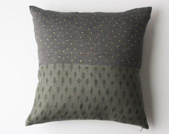 Linen Pillow Cover - Trees & Stars