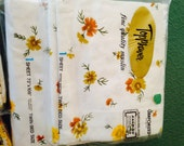 New vintage in package twin sheet set with four pillowcases